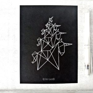 Postkarte Bremer Stadtmusikanten | Einhorn-Edition