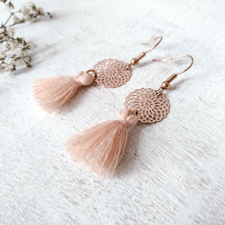 Online gehen toller Wert günstig kaufen Ohrringe Boho | peach roségold