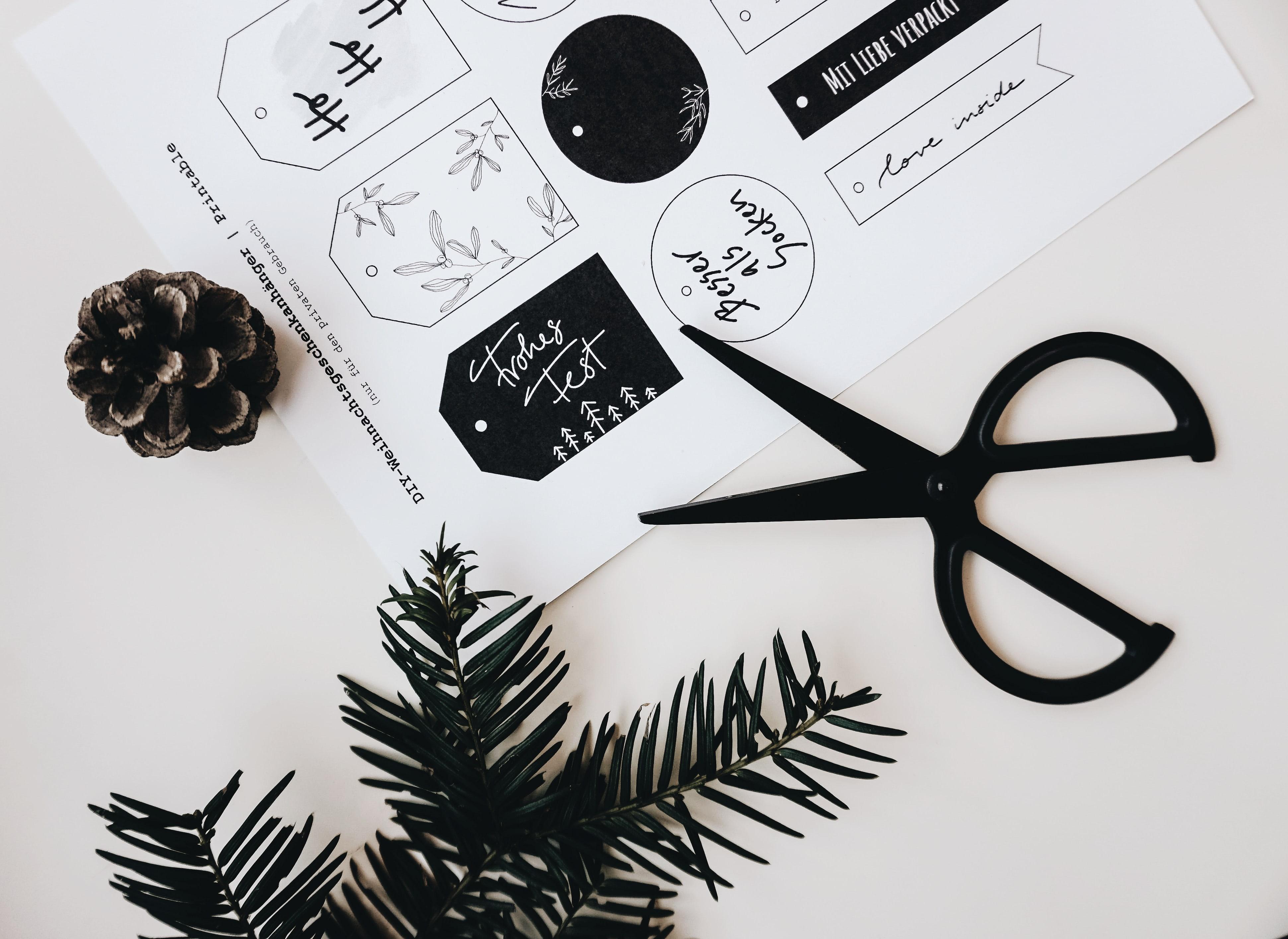 Weihnachtsgeschenkanhänger Printable