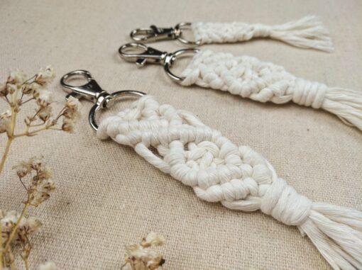 Schlüsselanhänger Baumwolle handgeknüpft