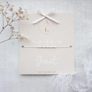 Morsecode-Armband Braut