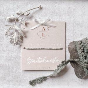 Morsecode-Armband Brautschwester
