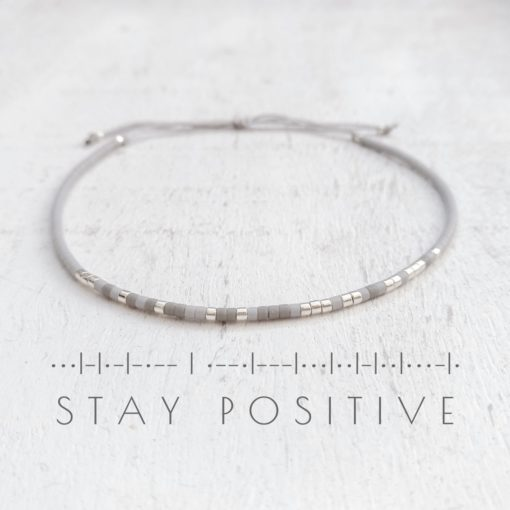 "Morsecode-Armband ""Stay positive"""