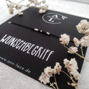 Morsecodearmband Wunschbegriff Schmuckkarte