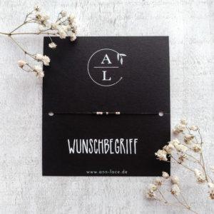 Morsecodearmband mit Schmuckkarte